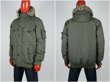 Mens The North Face Gotham Bomber Puffer Jacket HyVent Fur Green Khaki Size L