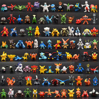 144pcs/set Pokemon Toy Mini Figures Lot Pocket Monster PVC Model Toy Gift 2-3CM