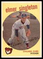 1959 Topps Elmer Singleton Chicago Cubs #548