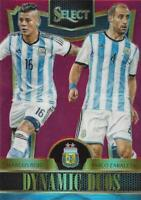 2015 Panini Select Soccer 'Dynamic Duos' - Red Parallel Serial Numbered to /199