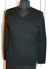 chadwicks MUJER 100% Cachemira Jersey Talla S Clásico Negro Cuello en V Suave