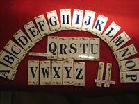 """Hausnummer + Name """" Lina """" Größe 7,4 x 3,25  Keramik von 0 bis 9  + von  A bis Z"""
