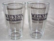 Watneys RED BARREL Glass (Set of Two) Alken-Maes brewery of Waarloos, Belgium