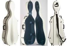 Bobelock 2000W White Fiberglass 4/4 Cello Case w/Wheels
