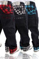 Dirty Money Scottish Blue Check Jeans