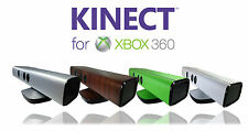 Textured skins for xbox 360 kinect sensor - Carbon - Wood - Metal - Leather -