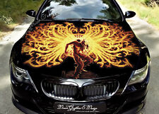 Flame Dragons Full Color Graphics Adhesive Vinyl Sticker Fit any Car Bonnet #144