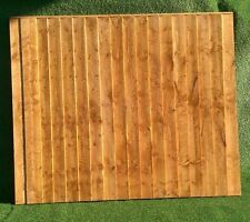 """Feather Edge 6Ft x 5ft Fence panel 1.25"""" x 1.25"""" Backing Rails with Capping"""