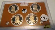 5 Sets 2013 S Presidential Dollar Proof Set U.S. Mint Plastic No Box No COA