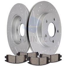Rear Discs Brake Rotors & Ceramic Pads For 2000-2004 2005 Pontiac Bonneville