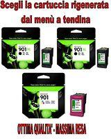 Cartucce RIGENERATE HP  901 * Nero Colore XL ** CC653AE CC656AE CC654AE **
