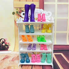 NEW Pretty Doll Shoes Rack Playhouse Accessories Doll Furniture Kids Gift