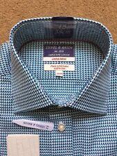 "STOVEL & MASON Men's Limited Edition Savile Row Green Shirt, Size 15""(38cm),£85"
