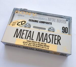 SONY Metal Master Type IV 90 Ceramic Shell and Guide