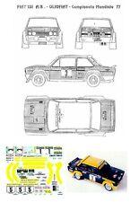 Decal - Fiat 131Abarth - OLIO FIAT  - CAMPIONATO DELMONDO  Rally 1977
