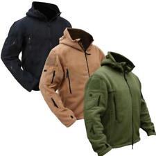 Mens Jacket Fleece Military Army Softshell Polar Hunting Tactical Outdoor Coat B