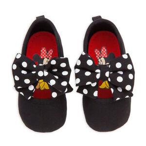 Disney Store Minnie Mouse Black Polka Dot Baby Costume Shoes 6 12 18 24 Months