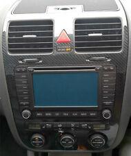 5D Gloss Carbon Fibre effect climatronic dash + air vents to fit VW Golf Mk5