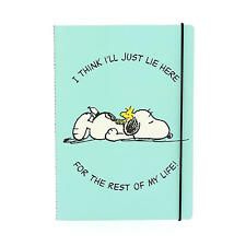 A4 PEANUTS I THINK I'LL JUST LIE HERE SOFTBACK NOTEBOOK LINED PAPER PAD SNOOPY