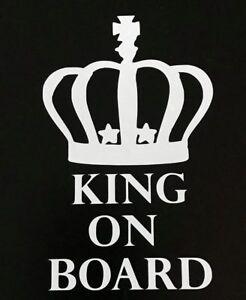 King On Board Car Decal Van, Window Stickers