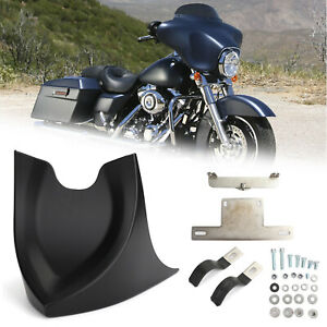 Front Chin Fairing Mudguard Spoiler Fits For Harley Touring Glide 1996-17 MBlack