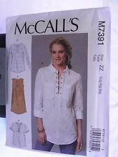 McCall's M7391, Misses Tops and Dress, Size: Lrg-Xxl. NEW UNCUT