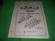 (Drawer 16) BRILLION Compaction Commander CC300 CC500 CC700 REPAIR PARTS CATALOG