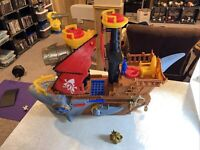 2015 Fisher Price Imaginext Shark Bite Pirate Ship EUC!