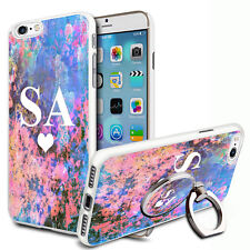 Marble Personalised Phone Case Cover & Ring Stand For Top Mobiles - V37
