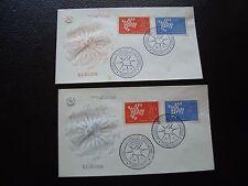 FRANCE - 2 enveloppes 1er jour 16/9/1961 (europa) (cy97) french