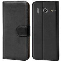 Verco Hülle für Huawei G510 Handyhülle Handy Tasche PU Leder Flip Case Cover