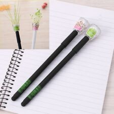 2Pcs 0.38mm Garden Grow Grass Gel Pen Stationery Creative Gift School Supply