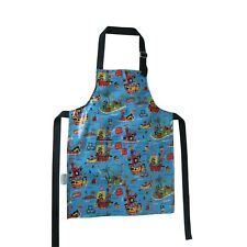 Kids apron waterproof laminated cotton pirates