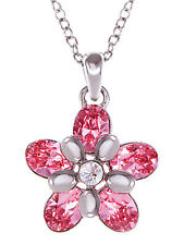 Rose Tone New Crystal Elements Flower Core Power Love Rhinestone New Necklace