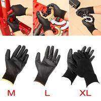 24 paires Gants de travail mécanicien palme M/L/XL Nylon Pu homme unisexe