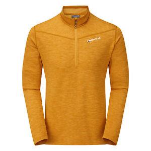 Montane Protium Pull-on Mens Jacket Fleece - Inca Gold All Sizes