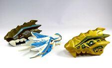 LEGO CHIMA ™ Figura Cabeza de Dragón 3 kopfteile Blanco Marrón Oro Repuesto