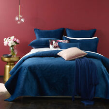Bianca Dynasty Navy Coverlet Set Bedspread Single / Double Bed Size RRP279.95