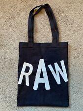 G STAR RAW Blue Denim Promo Gift Tote Bag Sz 17X13.5 NEW NWT