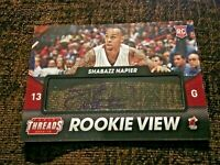 2014-15 Panini Threads View Shabazz Napier #29 Rookie Auto