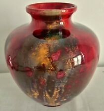 More details for royal doulton flambe vase by fred moore