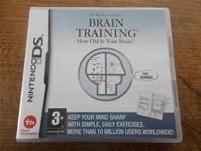 Nintendo DS Dr Kawashimas BRAIN TRAINING - How Old Is Your Brain? 3+ Mint & Book