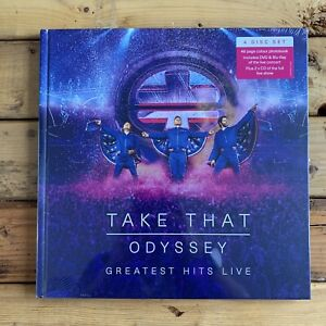 Take That Odyssey Live Ultimate 4 Disc Edition + Hardback Book New - RRP £29.99.