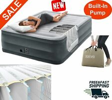Queen size  High Rise Air Mattress inflated bed  Built-In electric Pump camping