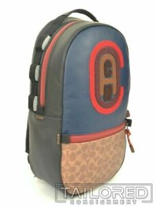 NEW - COACH Pacer Colorblock Canvas Leather w/ Logo Luxury Backpack 89294