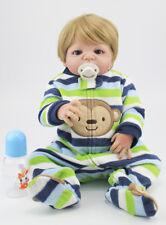"22"" Full Silicone Reborn Baby Boy Doll Lifelike Vinyl Newborn Babies Waterproof"