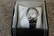 CROTON Mens Steel Swiss 10 ATM Watch with Leather Case CA301149SSDW