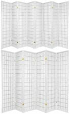3,4,5,6,8,10 Panel Japanese Oriental Style Shoji Room Divider White Color