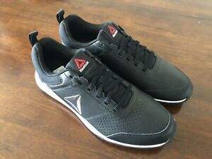 Reebok Mens Leather Sneaker Size 10.5 Black