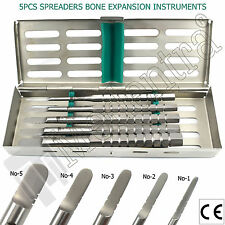 "Medentra® 5Pcs Dental Implant Tatum ""D"" Shaped Bone Spreaders + Instruments Tray"